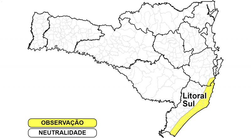 Defesa Civil emitiu alerta de ventos fortes em parte do Estado – Foto: Defesa Civil/Divulgação