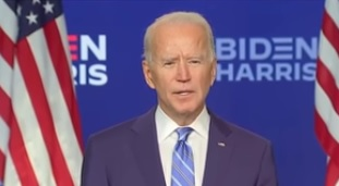 Joe Biden tem chances de vencer eleições, segundo projeções – Foto: Reprodução/Youtube
