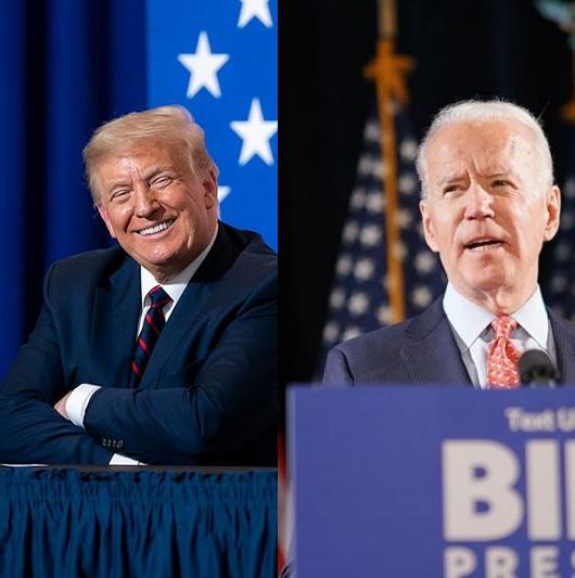 Virada do democrata Joe Biden (à direita) sobre o atual presidente Donald Trump (Republicano, à esquerda) em dois estados melhorou as negociações nos mercados globais. – Foto: Reprodução Instagram/Divulgação/ND