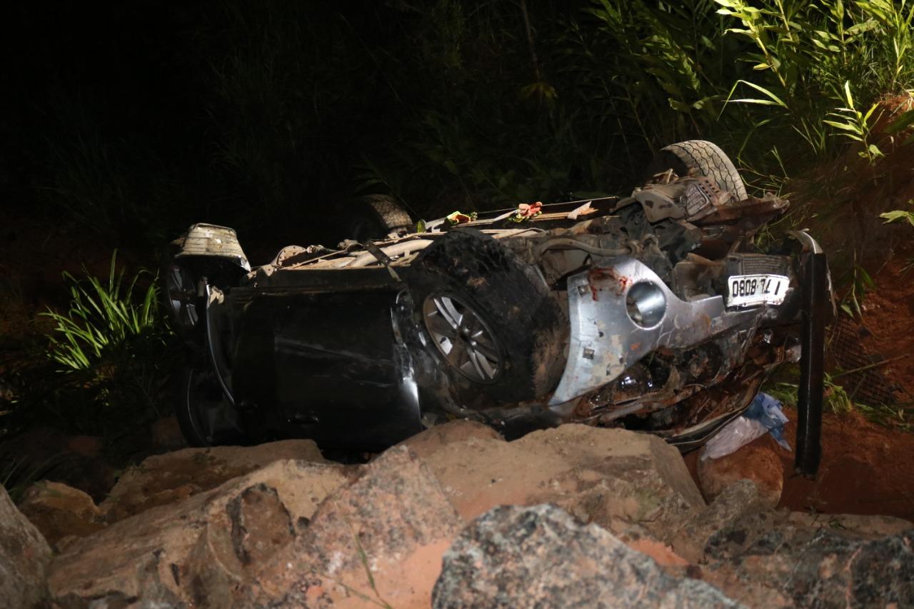 Carro cai em ribanceira e casal morre na BR-470 em Gaspar - Jefferson Dos Santos /Mesoregional
