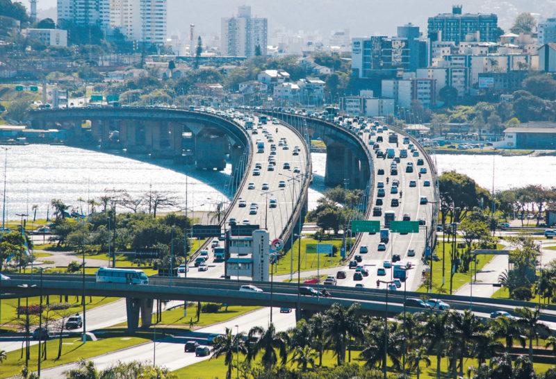 Trânsito em Florianópolis – Foto: Julio Cavalheiro/Divulgação/Secom/ND