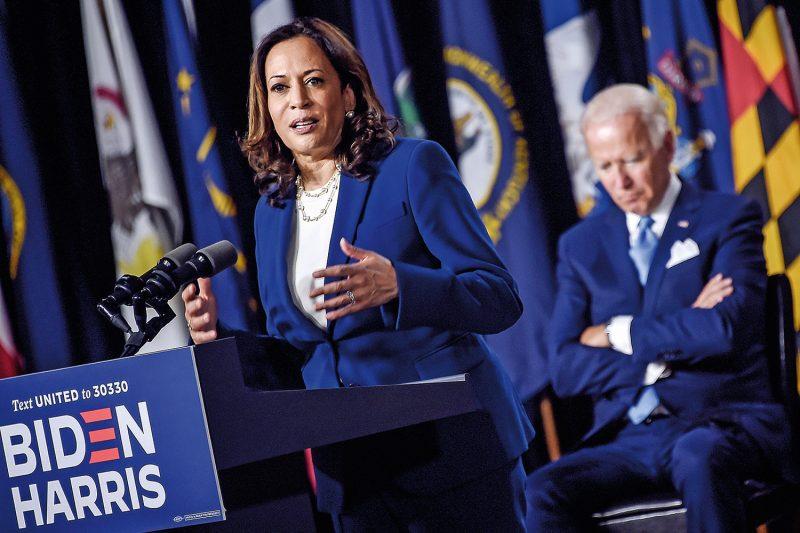 Harris foi apenas a quarta mulher a integrar uma chapa presidencial de um grande partido nos Estados Unidos — e a única mulher negra a fazê-lo.– Foto: Olivier Douliery/AFP/ND