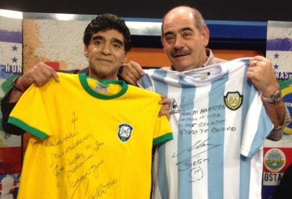 Rivelino, o verdadeiro ídolo do craque argentino Maradona – Foto: Rivelino/Rede Social/ND