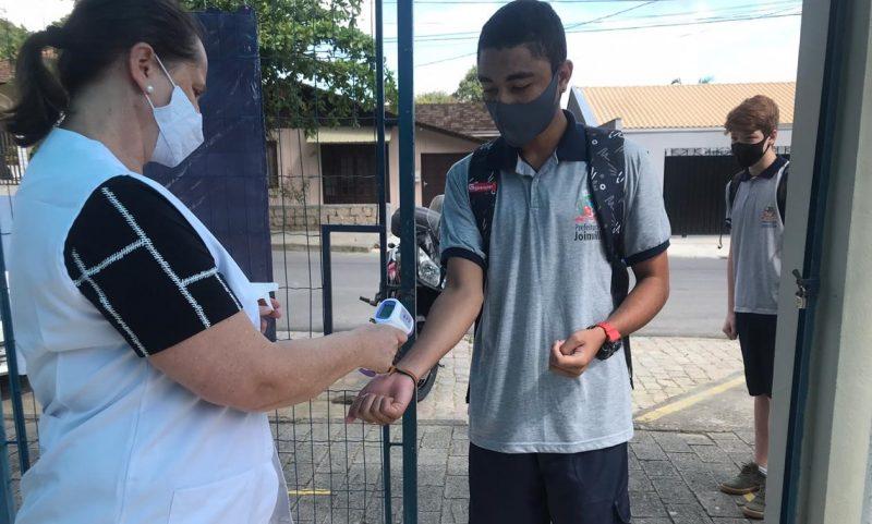 Escolas municipais de Joinville retornaram com as atividades presenciais no dia 3 de novembro – Foto: Luana Amorim/ND – Foto: Luana Amorim/ND