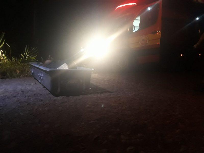 Corpo foi encontrado por volta das 8h20 de quarta-feira – Foto: Bombeiros/ND