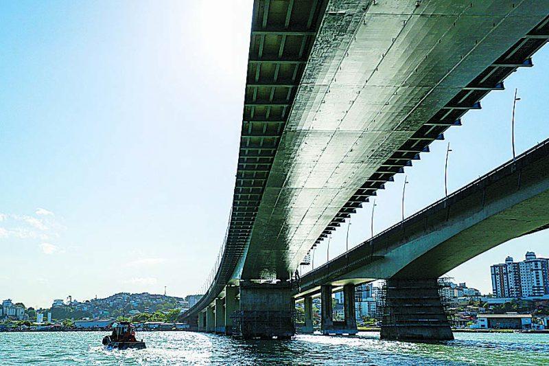 Pontes de Florianópolis vão passar por visita técnica – Foto: Julio Cavalheiro/Divugação/ND