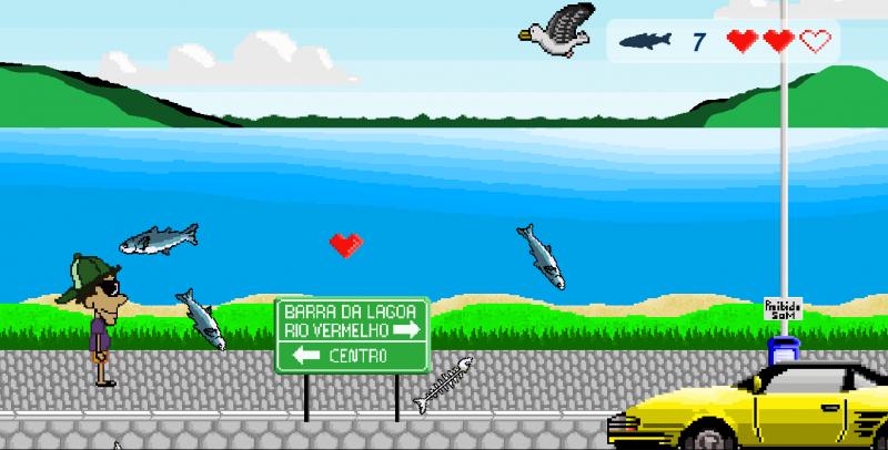 Lagoa da Conceição é um dos cenários do jogo para Android criado pelos primos Douglas Melo e Daniel e Alexandre Piazza – Foto: Divulgação/ND