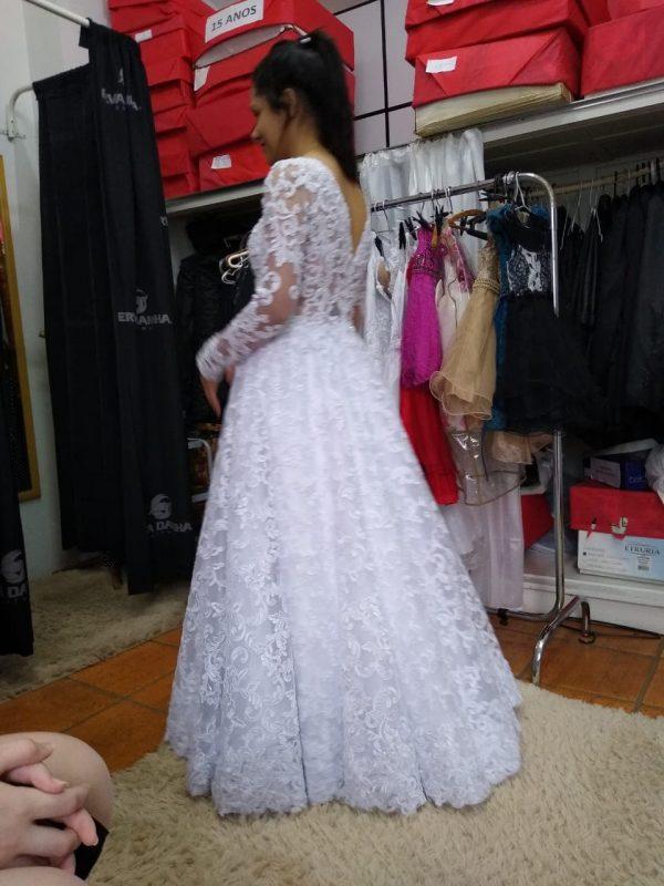 O vestido do casamento já estava escolhido. – Foto: Arquivo Pessoal