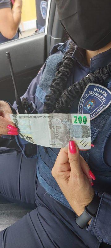 A nota foi pega em um comércio do Centro de Florianópolis – Foto: GMF/Reprodução