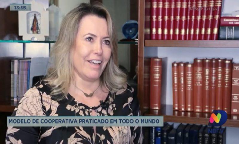 Advogada Eliane Velho utiliza serviços da cooperativa de crédito dos advogados – Foto/Reprodução: NDTV