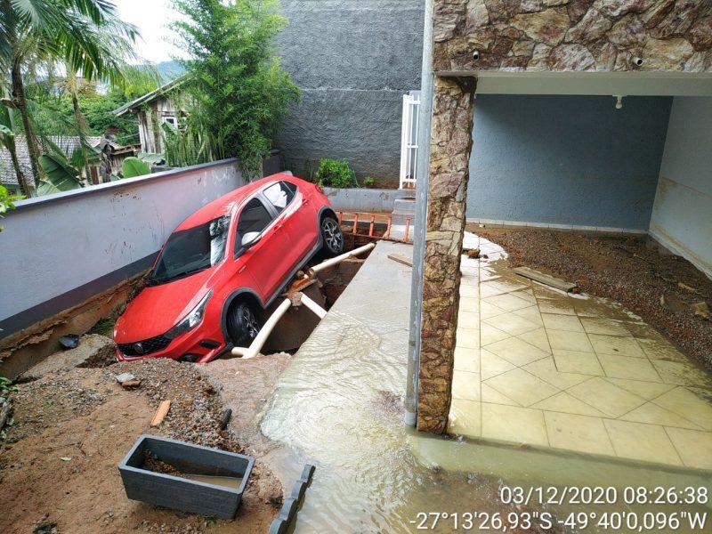 Chuva causa alagamentos em Rio do Sul, no Alto Vale do Itajaí – Foto: Divulgação/Prefeitura de Rio do Sul
