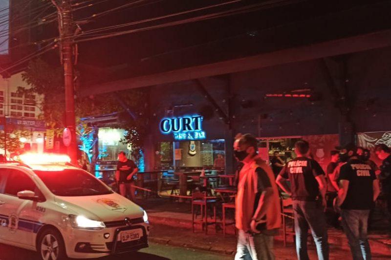 Órgãos de segurança se unem para operação de fiscalização e orientação sobre as medidas restritivas de combate ao coronavírus em Blumenau – Foto: Divulgação/Polícia Civil
