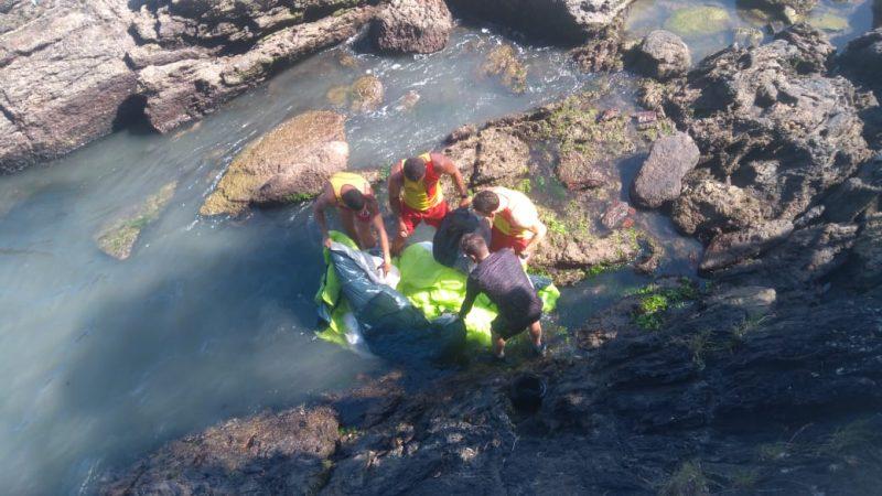 Em uma das ocorrências, GBS auxiliou no resgate de homem que caiu de parapente em BC – Foto: CBMSC/Divulgação/ND
