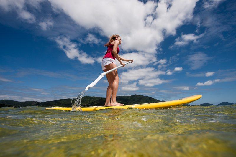 Stand up paddle na Lagoa da conceição. – Foto: Foto_ Flávio Tin _ Arquivo ND,jpg
