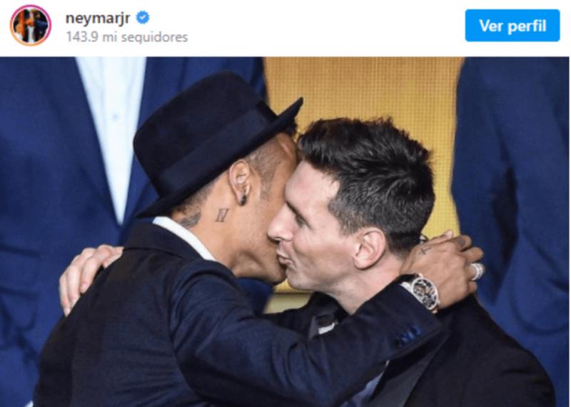 Neymar tem mandado indiretas sobre voltar a jogar com Messi… – Foto: Instagram