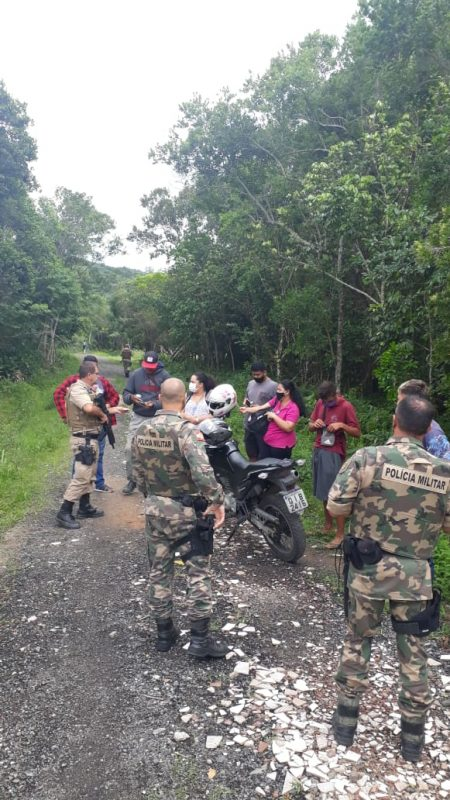 Invasão foi impedida pelos órgãos de fiscalização. – Foto: PMA/Divulgação ND