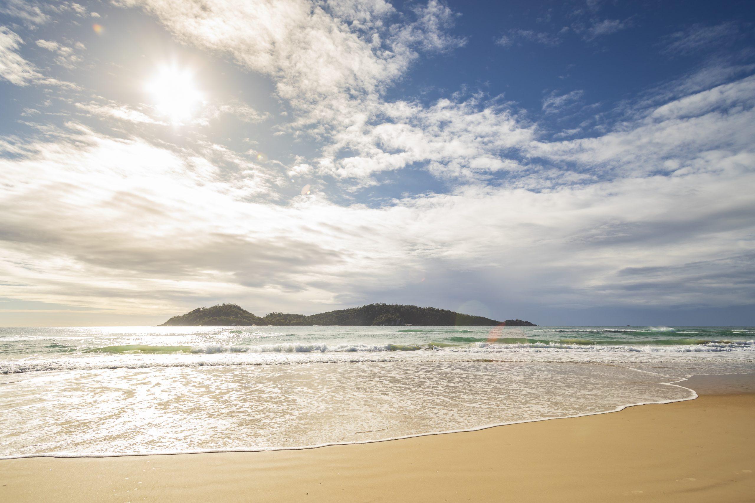 Praia do Campeche, em Florianópolis – Foto: Marcos Campos/ND