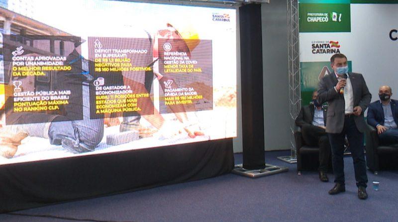 Governador Carlos Moisés apresentou ações para minimizar os impactos da falta de chuva. – Foto: Reprodução NDTV