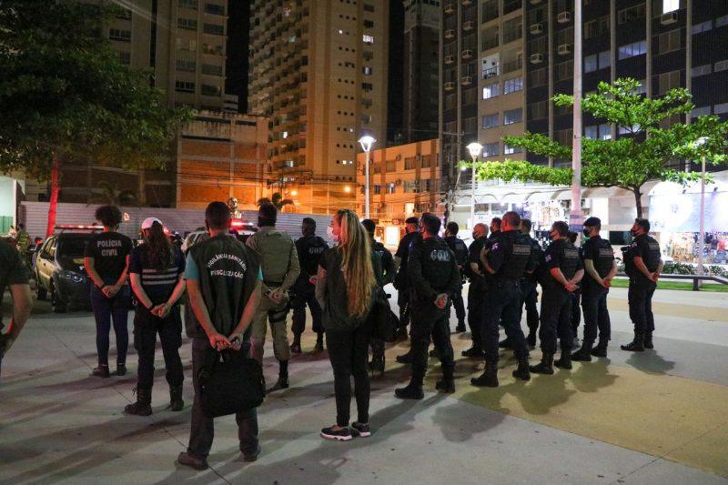 A envolveu Guarda Municipal de Balneário Camboriú, Polícia Militar, Corpo de Bombeiros, Polícia Civil, Vigilância Sanitária, Fiscalização de Posturas e Agentes de Trânsito. – Foto: Carol Poerner/SECOM BC/Divulgação/ND