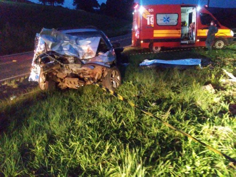 O grave acidente foi registrado no fim da tarde desta sexta-feira (4). – Foto: Corpo de Bombeiros/Divulgação