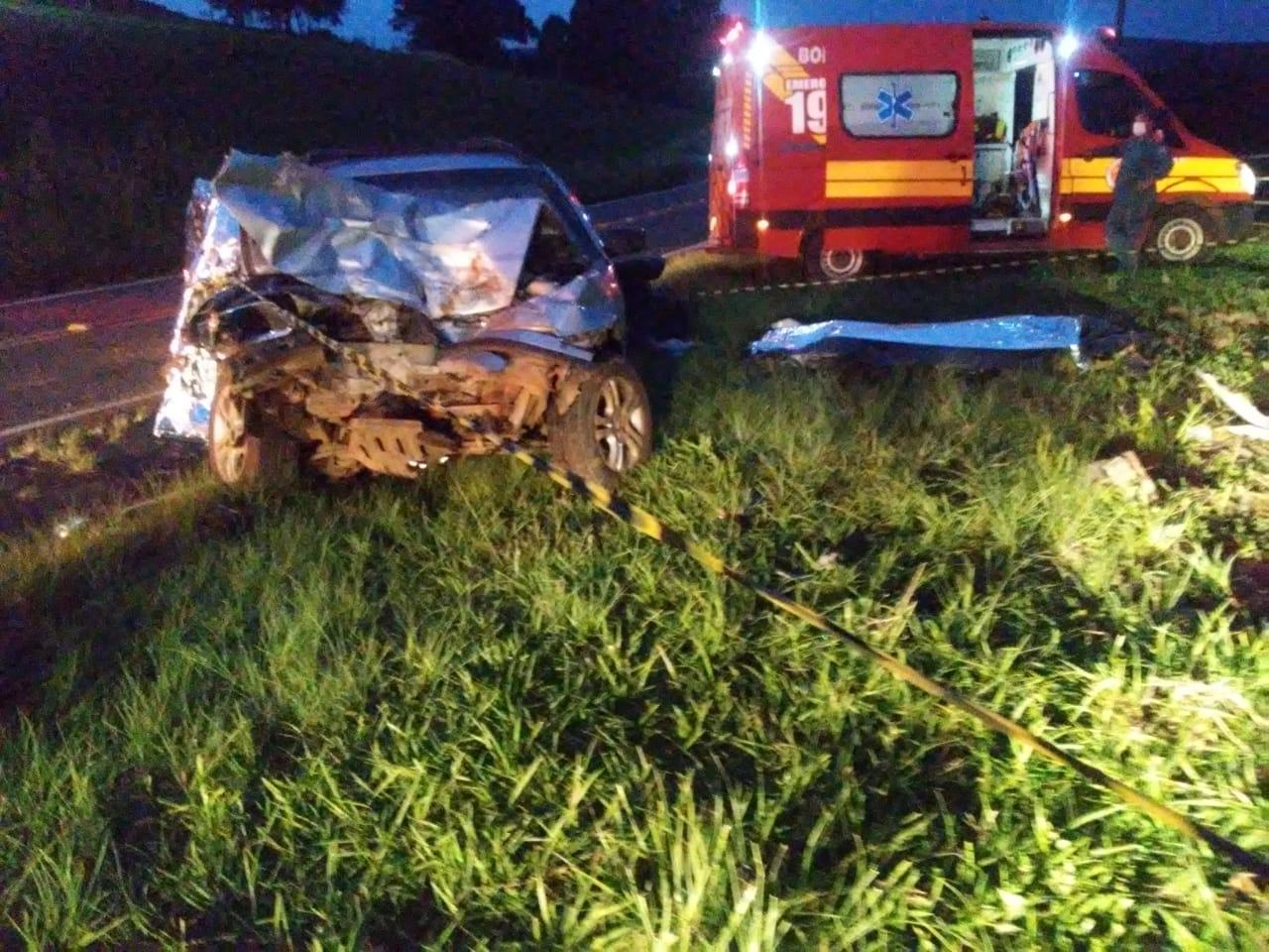 O grave acidente foi registrado no fim da tarde desta sexta-feira (4). - Corpo de Bombeiros/Divulgação