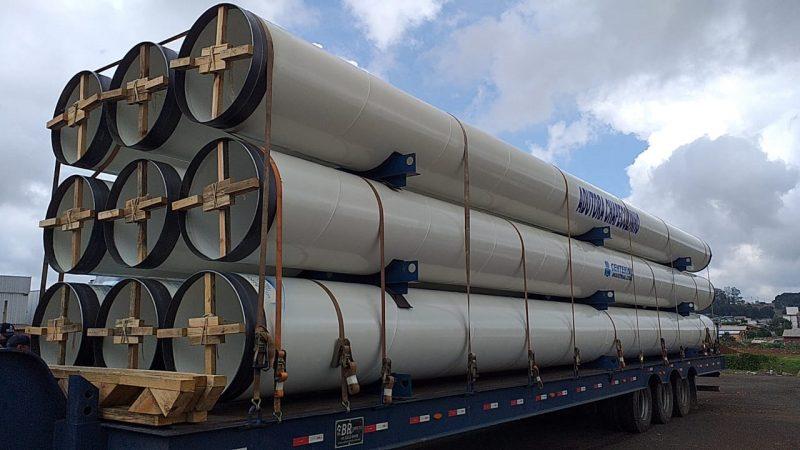 Cada tubo tem 15 metros de comprimento – Foto: Jair Correia/NDTV/Divulgação ND