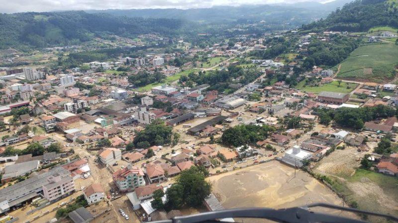 Enchente no município de Presidente Getúlio