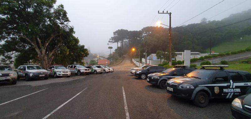 Ação foi desencadeada na manhã desta sexta-feira (18) no Planalto Norte catarinense – Foto: Polícia Civil/Divulgação