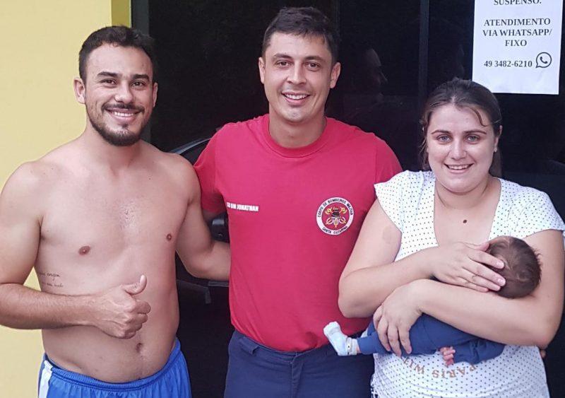 Bebê é salvo em resgate dramático em SC; assista ao vídeo – Foto: Reprodução/ND