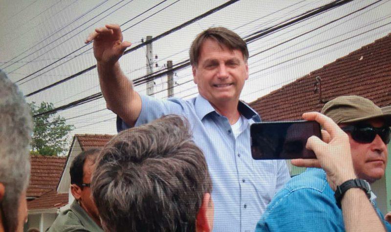Bolsonaro foi ovacionado em passagem por Joinville no ano passado – Foto: Alphonsus Stofelli/NDTV