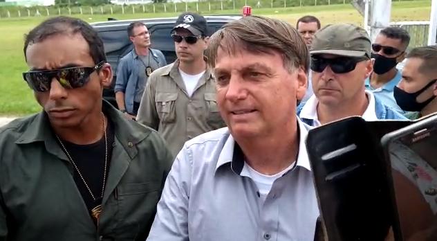 Bolsonaro esteve em São Francisco do Sul em dezembro de 2020 – Foto: Taís Fiori/Divulgação/ND