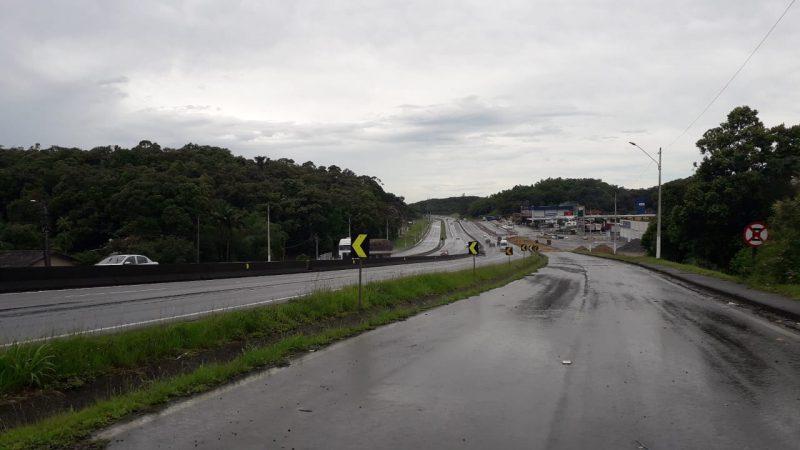 Trânsito será interrompido na BR-101, em Joinville, no domingo – Foto: Dani Lando/NDTV
