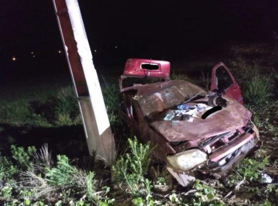 Jovem morre em grave acidente em rodovia do Extremo-Oeste de SC – Foto: Corpo de Bombeiros/Divulgação/ND