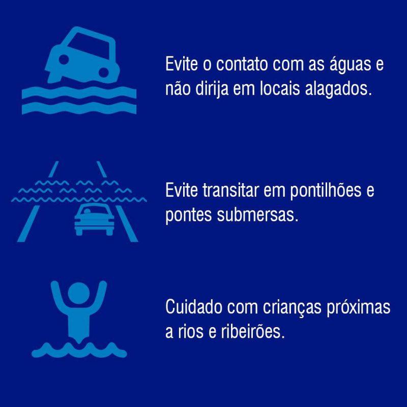 Cuidados apontados pela Defesa Civil durante chuvas