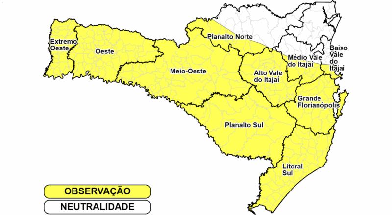 Defesa Civil alerta para mais chuvas neste domingo. – Foto: Divulgação/Defesa Civil de SC