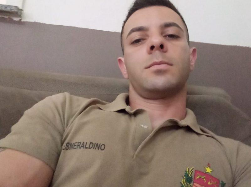 O policial Jeferson Luiz Esmeraldino foi baleado durante assalto a banco em Criciúma – Foto: Reprodução/Redes Sociais