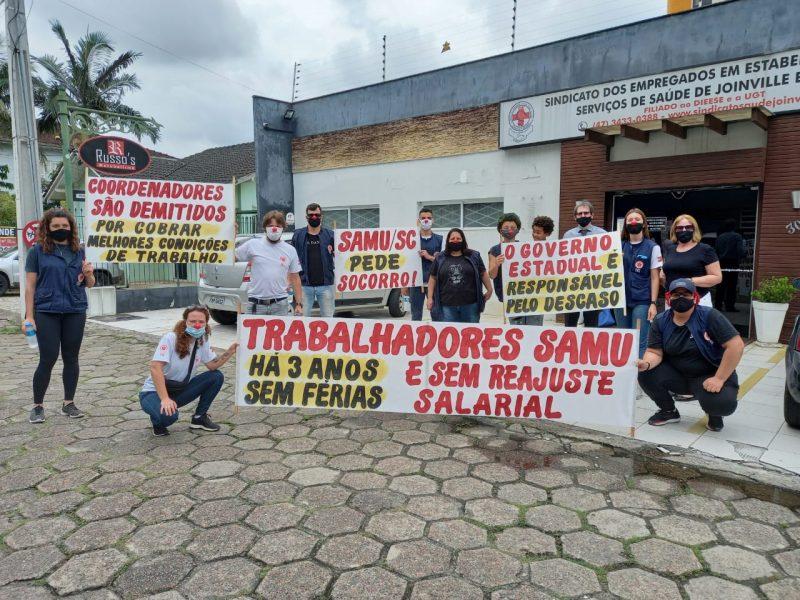 Em dezembro de 2020, profissionais já haviam se mobilizado por direitos – Foto: Divulgação/ND