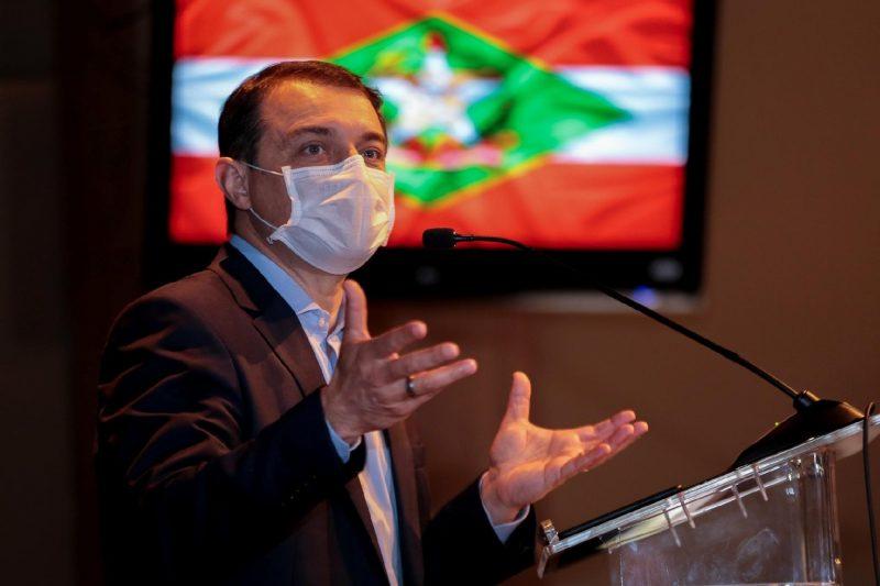 Moisés e governadores do RS e PR têm encontro marcado na tarde desta quarta-feira (17) – Foto: Maurício Vieira/Secom/Governo de Santa Catarina