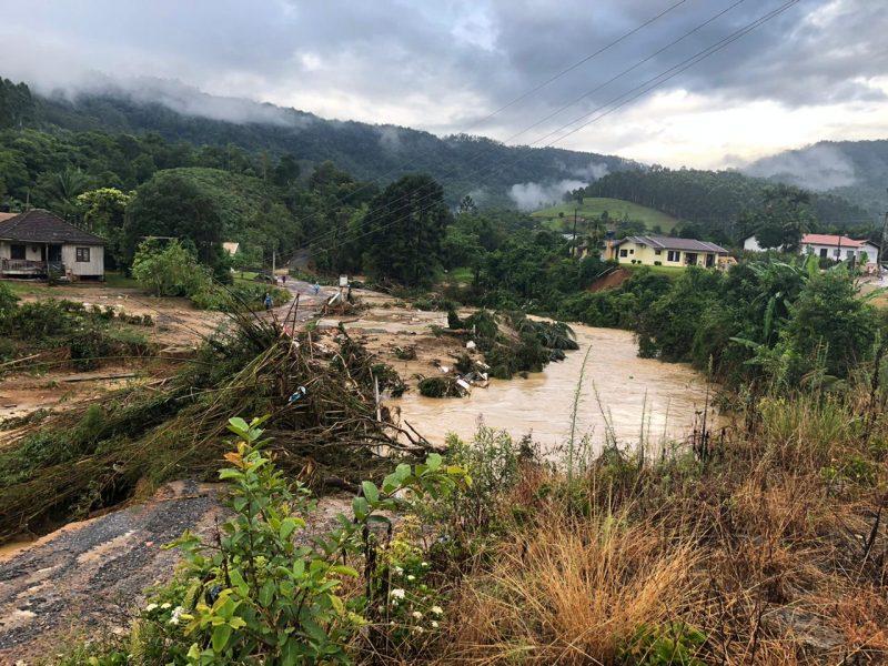 Cidadãos afetados pelas chuvas em Rio do Sul (foto) e Ibirama poderão sacar o FGTS – Foto: Reprodução/Redes sociais