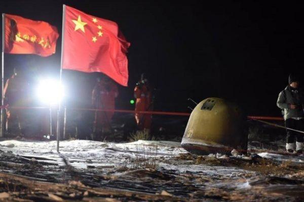 sonda chinesa pousa na terra