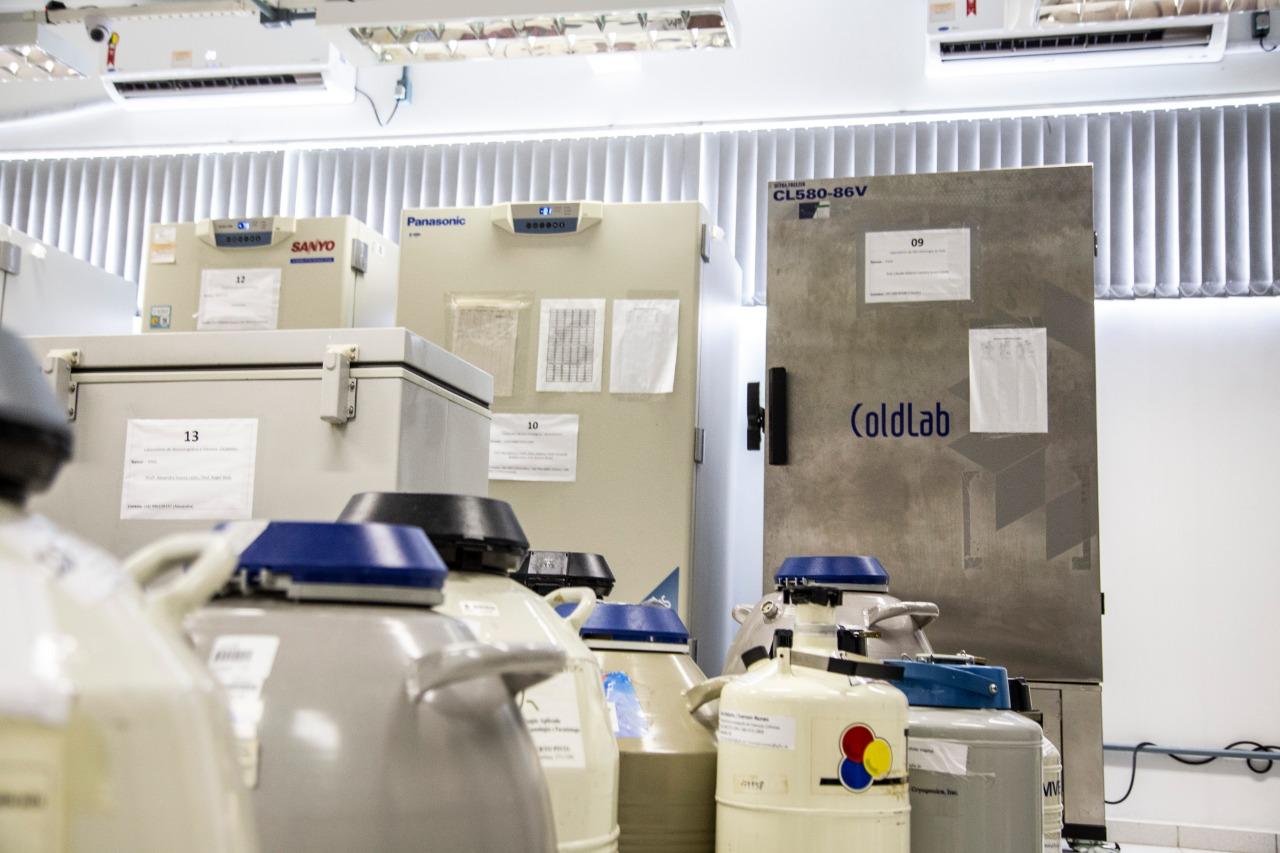 O Lameb (Laboratório Multiusuário de Estudos em Biologia) do CCB (Centro de Ciências Biológicas), em Florianópolis, mantém 16 tltrafreezers em uma sala. - Anderson Coelho/ND