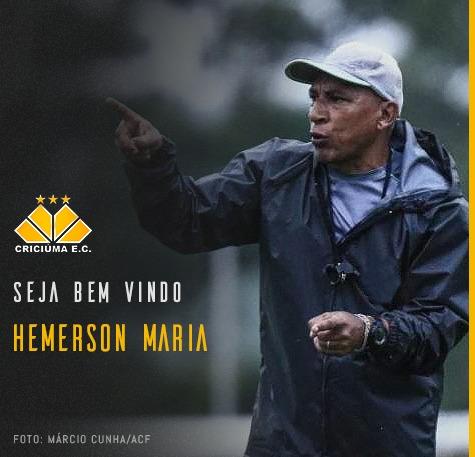 Hemerson Maria é o novo técnico do Criciúma – Foto: Criciúma/Divulgação