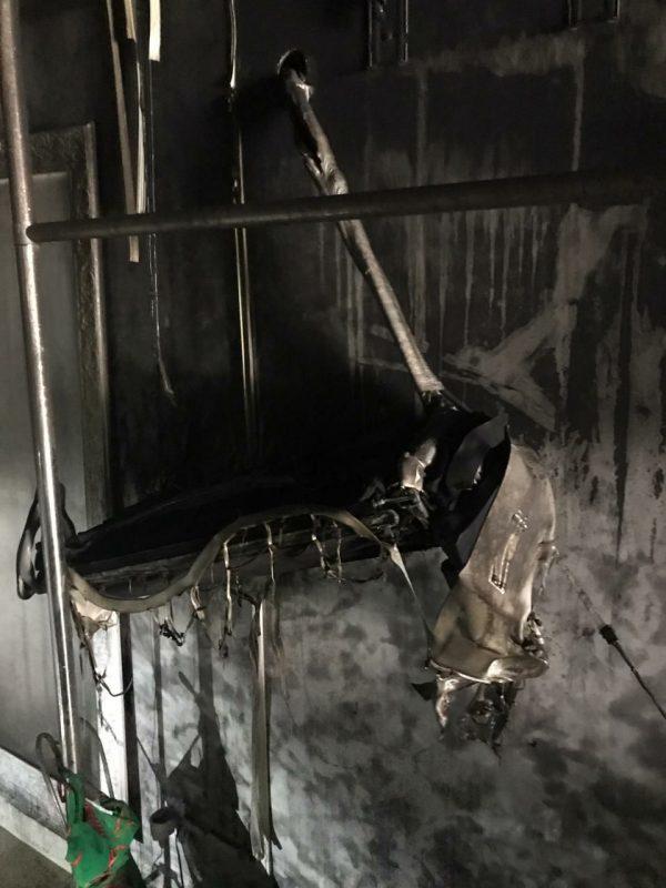 Os danos foram registrados em aproximadamente 25 m² da sala comercial. – Foto: Corpo de Bombeiros/Divulgação