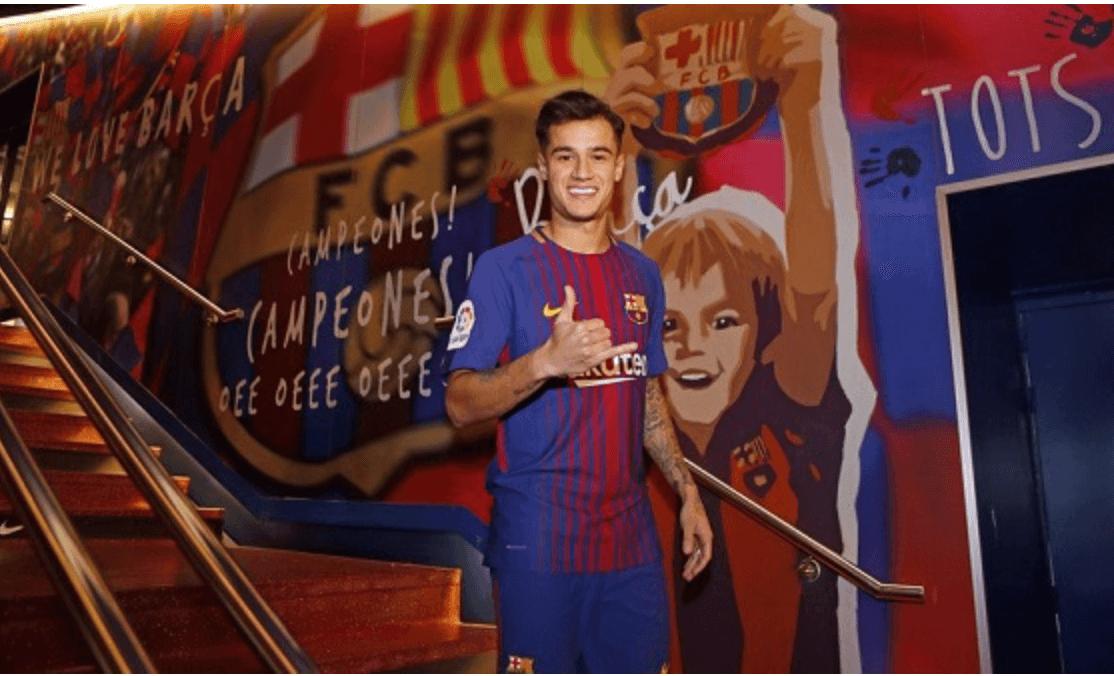2 - PHILIPPE COUTINHO - O Liverpool pagou R$ 83 milhões em 2013, mas vendeu por R$ 928 milhões ao Barcelona: lucro de R$ 845 milhões - Divulgação Barcelona