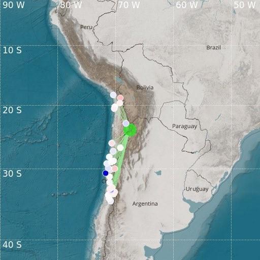 Local apontado pelo sismógrafo como atingido pelo terremoto – Foto: Diario Frontera/Divulgação/ND