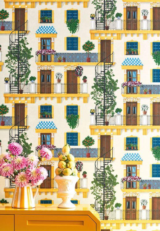 Plaza Alfaro é um papel de parede inspirado do cenário de Romeu e Julieta em Sevilha – Foto: Divulgação