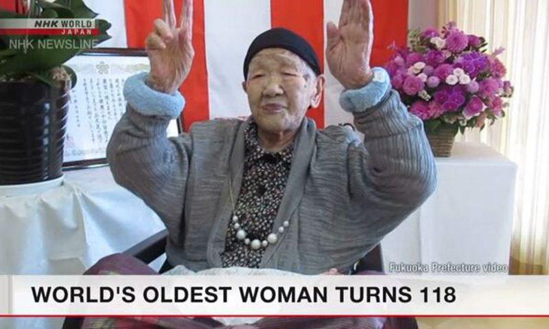 Tanaka Kane reside na cidade de Fukuoka, no sudoeste do Japão, e nasceu em 2 de janeiro de 1903. – Foto: Reprodução/NHK WORLD JAPAN/Direitos Reservados/ND