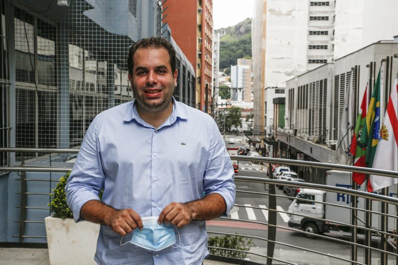 João Cobalchini está iniciando primeiro mandato na Câmara de Florianópolis – Foto: Anderson Coelho/Arquivo/ND