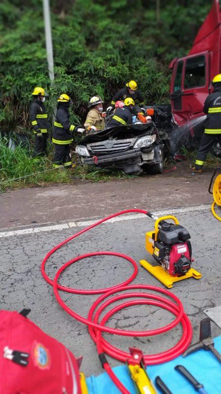 Aeronave Arcanjo foi acionada após o acidente para prestar atendimento ao ocorrido – Foto: Divulgação/ND