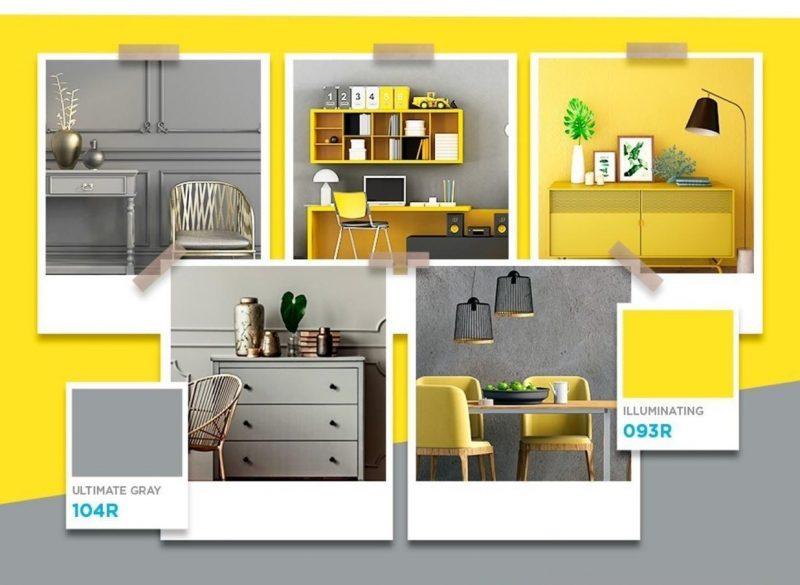 Cinza e amarelo estarão no palco das cores em 2021 – Foto: Divulgação